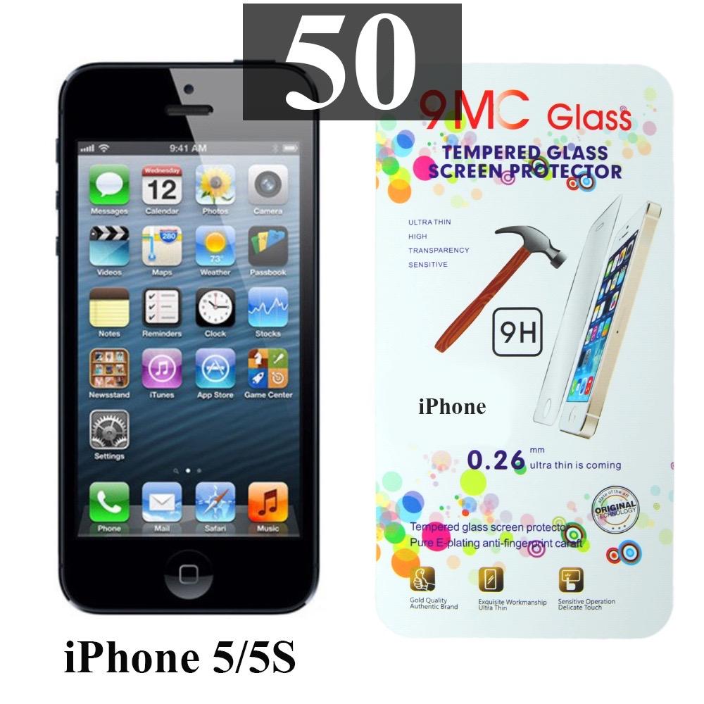 ฟิล์มกระจก iPhone 5 | ฟิล์มกระจก iPhone 5s/5c/SE 9MC แผ่นละ 27 บาท (แพ็ค 50)