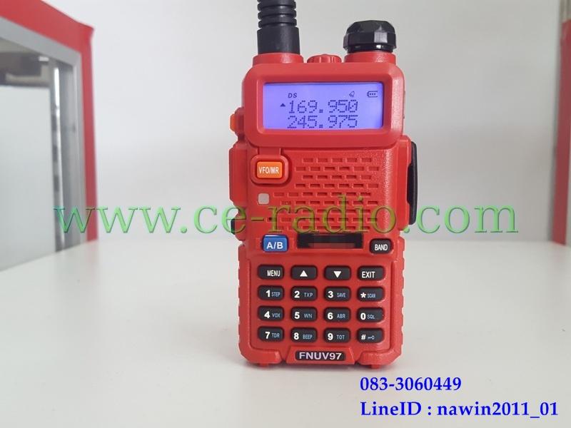 IC-UV95,UV97 VHF/CB 40เมนู สีแดง ชุดพิเศษ+BNC+หูฟัง