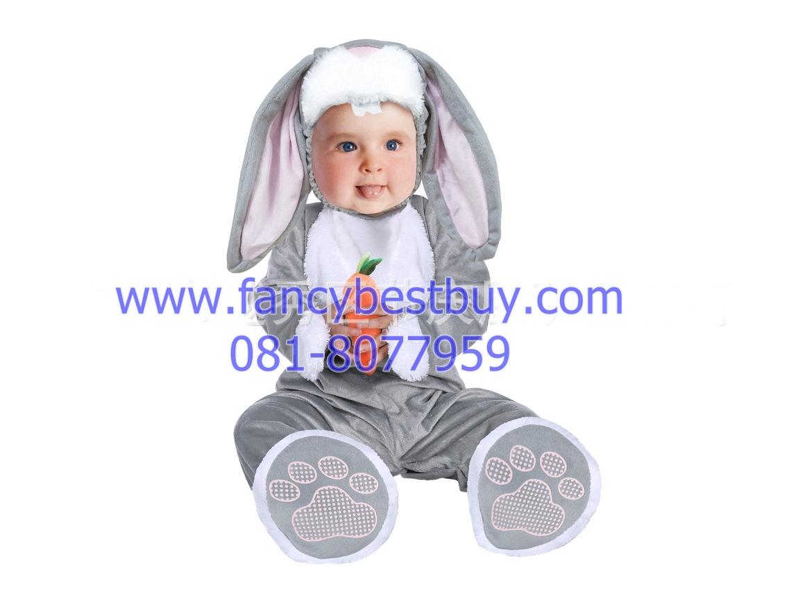 ชุดแฟนซีกระต๋าย เป็นชุดแฟนซีเด็กทารกหรือเด็กเล็ก ผ้านิ่มสำหรับเด็กอ่อน ใช้ได้ทั้งเด็กชายหญิง M 70-80 cm, L 80-90 cm.