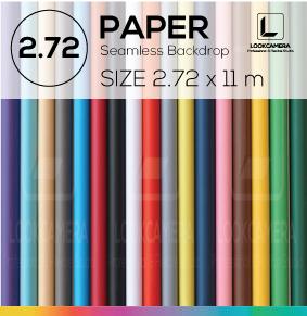 PAPER BACKDROP 272 ฉากกระดาษขนาด 2.72 x 11 เมตร (ใช้กับโครงฉาก ML)