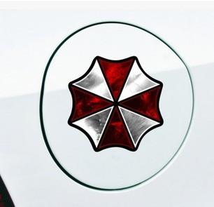 สติ๊กเกอร์แปะฝาถังน้ำมันรถ Resident Evil 8x8 CM