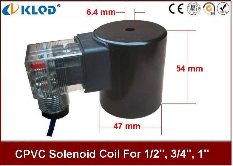 คอยล์ (Coil) 24 VDC สำหรับ Solenoid KLOD CPVC 1/2 นิ้ว, 3/4 นิ้ว, 1 นิ้ว