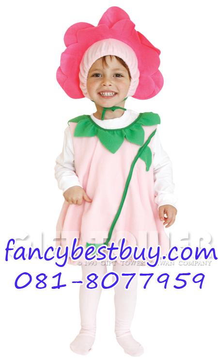 ชุดดอกไม้ เป็นชุดแฟนซีการแสดงสำหรับเด็กเล็ก สำหรับการแสดง Lovely Flower Fairy ใช้ได้ทั้งเด็กชายหญิง ขนาด S, M, L