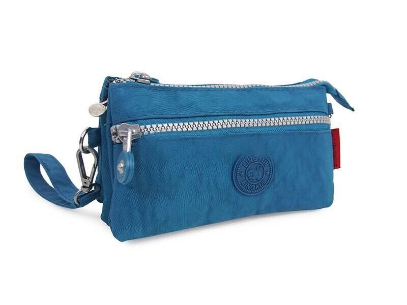 กระเป๋าคล้องมือ ผ้าเนื้อ Kipling สีฟ้า