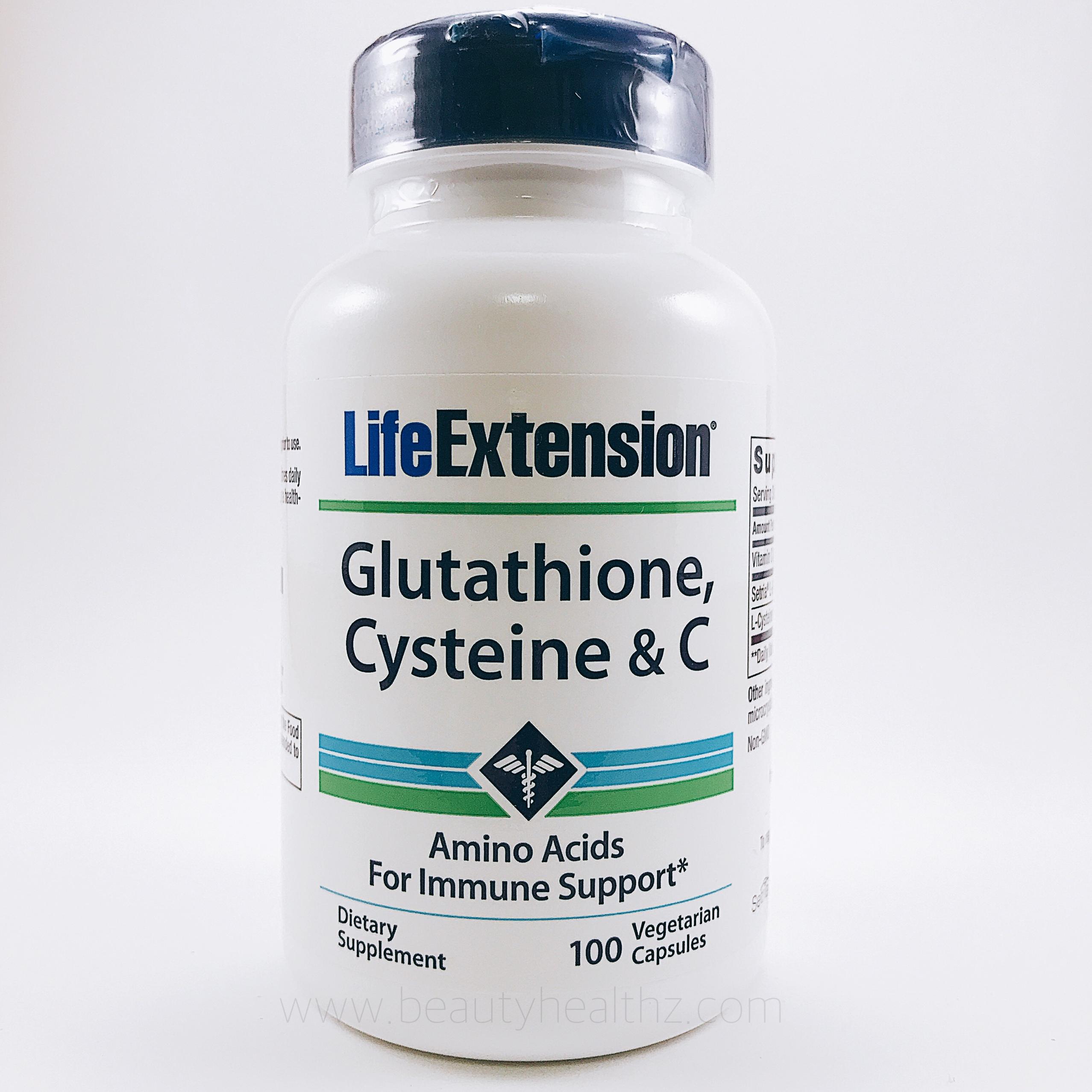 Life Extension, Glutathione, Cysteine & C, 100 Veggie Caps
