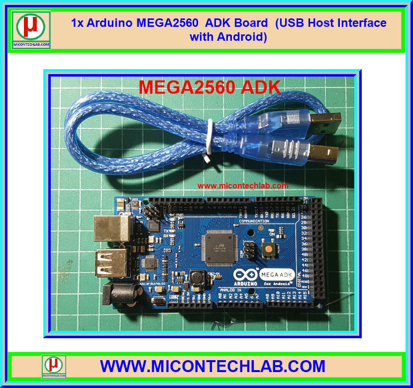 1x Arduino MEGA2560 ADK Board (USB Host Interface with Android)