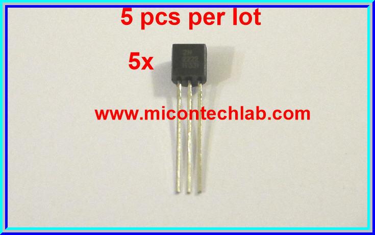5x 2N2222 NPN Transistor VCEO 40 V IC 1Amp (5 pcs per lot)