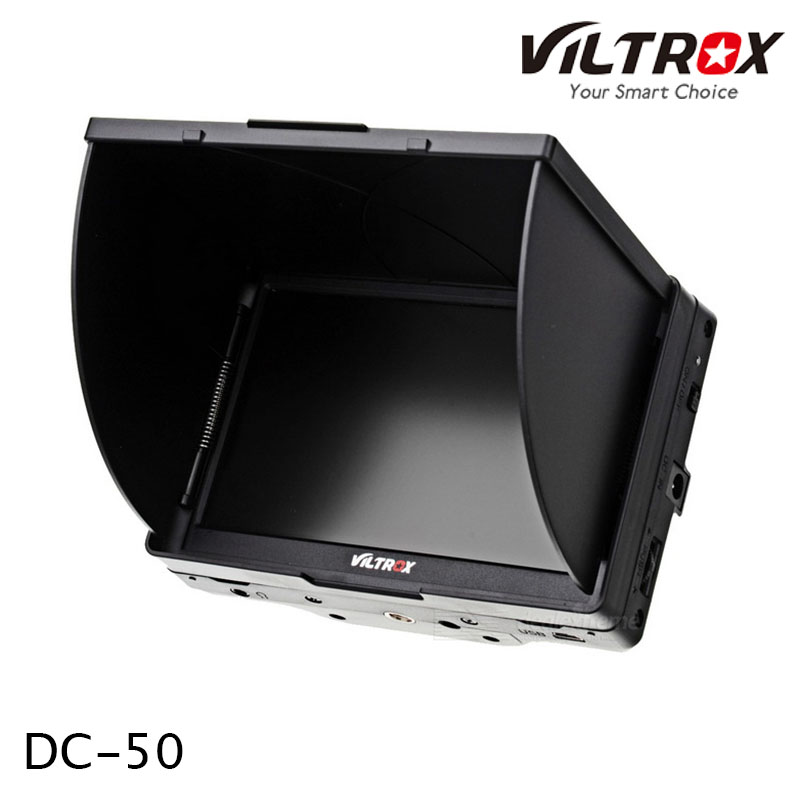 Viltrox 5'' DC-50 Clip-on Color TFT LCD Field Monitor Peaking HDMI AV for Camera