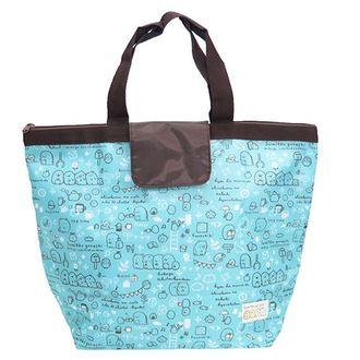 กระเป๋าสะพายไหล่ Sumikko Gurashi สีฟ้าใบใหญ่