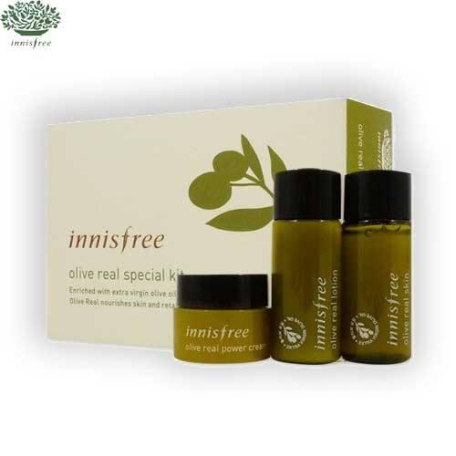 Innisfree Olive Real Special Kit (3 Items) เซทบำรุงผิว สารสกัดจากน้ำมันมะกอก สำหรับผิวแห้ง