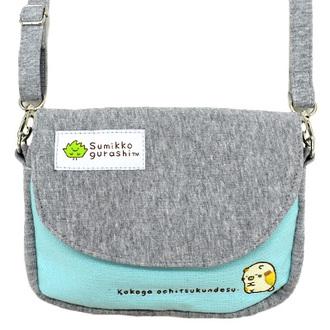 กระเป๋าสะพายใบเล็ก Sumikko Gurashi สีเทา-ฟ้า