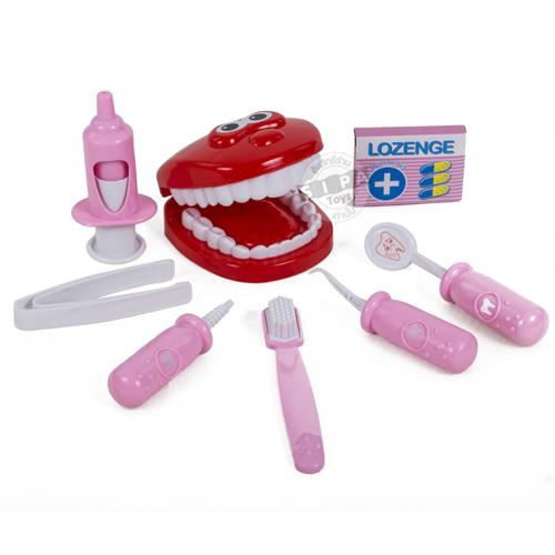 ชุดเครื่องมือหมอฟัน สีชมพู Dental Clinic...ฟรีค่าจัดส่ง